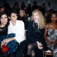 Bianca Li, Farida Khelfa, Arielle Dombasle et Aissa Maïgaassistent au défilé haute couture printemps-été 2014 de Jean Paul Gaultier, dans son atelier situé dans le 3e arrondissement. Paris, le 22 janvier 2014.