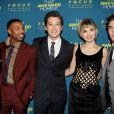 Tom Gormican, Michael B. Jordan, Miles Teller, Imogen Poots, Zac Efron à la première du film That Awkward Moment à New York le 22 janvier 2014.
