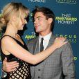 Imogen Poots et Zac Efron complices à la première du film That Awkward Moment à New York le 22 janvier 2014.