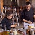 """Clash entre Quentin et Noémie dans """"Top Chef 2014"""". Lundi 20 janvier 2014."""