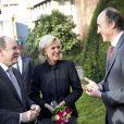 La princesse Astrid de Belgique, en présence de son époux le prince Lorenz, cédait au prince Albert II de Monaco, le 24 janvier 2014 à Bruxelles, la présidence d'honneur de la fondation de l'EORTC (European Organisation for Research and Treatment of Cancer).