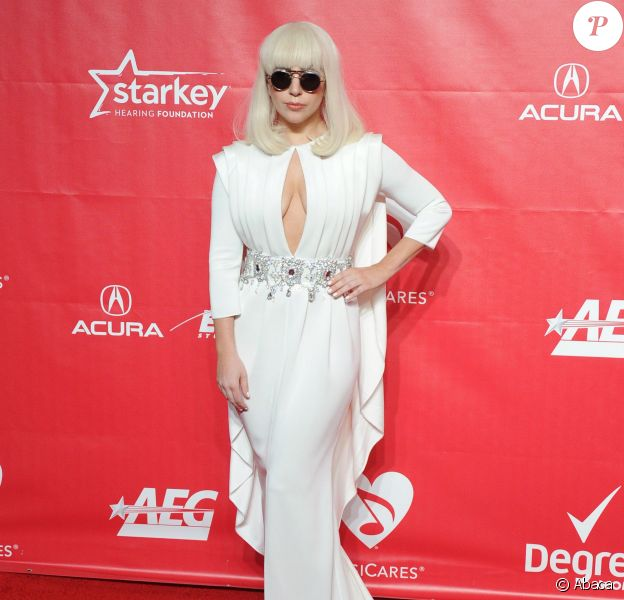 Lady Gaga sur le tapis rouge du gala MusiCares Person of the Year à Los Angeles, le 24 janvier 2014.