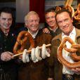 Arnold Schwarzenegger à la soirée Weisswurstparty en Autriche, le 24 janvier 2014.