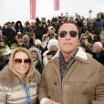 Arnold Schwarzenegger et sa nouvelle compagne Heather Milligan à Kitzbühel en Autriche, le 25 janvier 2014.