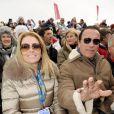 Arnold Schwarzenegger s'affiche avec sa nouvelle compagne Heather Milligan à Kitzbühel en Autriche, le 25 janvier 2014.