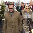 Arnold Schwarzenegger avec sa nouvelle compagne Heather Milligan à Kitzbühel en Autriche, le 25 janvier 2014.