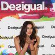 """Irina Shayk assiste à la présentation de la collection automne-hiver 2014 de Desigual, intitulée """"Why ?"""". Barcelone, le 27 janvier 2014."""