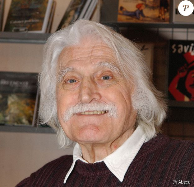 François Cavanna, lors du Salon du Livre à la Porte de Versailles, à Paris le 17 mars 2006