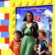 Barcelle Beauvais en famille lors de l'avant-première de Lego Movie à Los Angeles, le 1er février 2014.