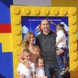 Steve Blake et sa famille lors de l'avant-première de Lego Movie à Los Angeles, le 1er février 2014.