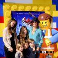 Brooke Burke en famille lors de l'avant-première de Lego Movie à Los Angeles, le 1er février 2014.