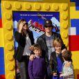 Mark Wahlberg en famille lors de l'avant-première de Lego Movie à Los Angeles, le 1er février 2014.