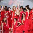 """Ambiance lors de la soirée """"Go Red For Women"""", dans le cadre de la fashion week à New York, le 6 février 2014."""