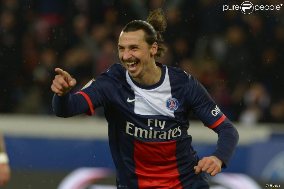 Zlatan Ibrahimovic à Paris, le 31 janvier 2014.