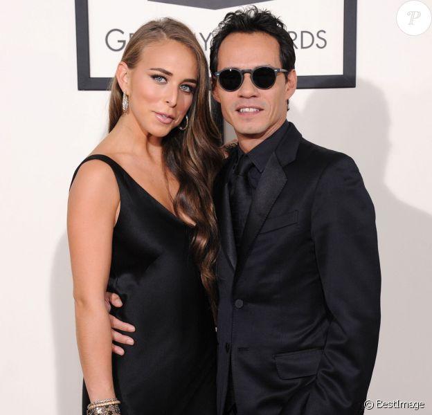 Chloe Green et son compagnon Marc Anthony à la 56e cérémonie des Grammy Awards à Los Angeles, le 26 janvier 2014.
