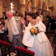 Thierry Olive et sa douce Annie lors de leur mariage religieux en l'église de Gavray, le 14 septembre 2012