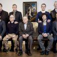 John Goodman, George Clooney, Matt Damon, Bill Murray, Jean Dujardin, Bob Balaban, Harry Ettlinger, Dimitri Leonidas et Grant Hislov au photocall du film Monuments Men à la National Gallery à Londres, le 11 février 2014.