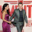 Matt Damon et Luciana Barroso à la première du film Monuments Men à Londres, le 11 février 2014.
