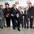Matt Damon, Bill Murray, John Goodman, George Clooney, Jean Dujardin, Bob Balaban, Hugh Bonneville et Dimitri Leonidas à Londres, le 11 février 2014.
