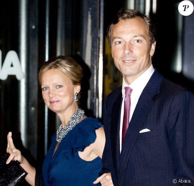La princesse Carolina de Bourbon-Parme et son mari Albert Brenninkmeijer le 1er février 2014 au gala célébrant les 33 ans de règne de la princesse Beatrix des Pays-Bas, à Rotterdam.