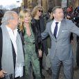 Sir Philip Green et Kate Moss arrivent au défilé Topshop Unique à Londres le 16 février 2014