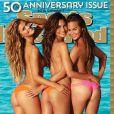 Nina Agdaln Lily Aldridge et Chrissy Teigen en couverture du 50e numéro de Sports Illustrated Swimsuit. Février 2014.
