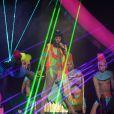 Katy Perry lors des Brit Awards à l'O2 Arena de Londres, le 19 février 2014.