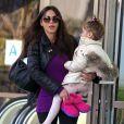 Oksana Grigorieva emmène sa fille Lucia Gibson (la fille de Mel) à son cours de danse à Sherman Oaks, le 19 janvier 2013