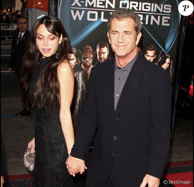 Oksana Grigorieva et Mel Gibson à Hollywood le 28 avril 2009
