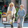 Elsa Pataky très enceinte, va faire des courses avec sa belle-mère à Malibu, le 19 février 2014.