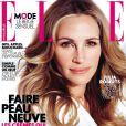 Couverture du magazine Elle avec Julia Roberts (en kiosque le 21 février).