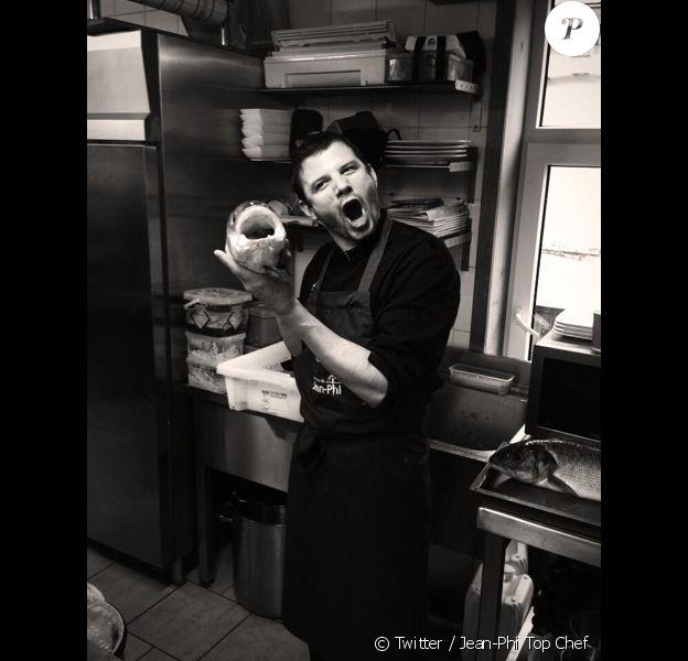 Jean-Philippe Watteyne prend la pose dans les cuisines de son bistrot. Février 2014.