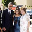 Tony Parker et Eva Longoria avec sa petite maman
