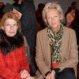 """La princesse Anne de Bourbon-Siciles au défilé de mode """"Guy Laroche"""", collection prêt-à-porter Automne-Hiver 2014/2015, au Grand Palais à Paris. Le 26 février 2014"""