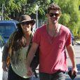 Paula Patton et son mari Robin Thicke dans les rues de Beverly Hills après avoir voté, le 6 novembre 2012. |