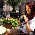 Delphine Wespiser, Miss France 2012, participe à une campagne promotionnelle pour la ville de Mulhouse. Février 2014.