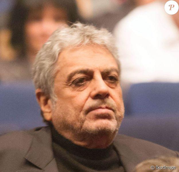 Enrico Macias lors du concert de Dany Brillant au Palais des Sports à Paris le 4 avril 2013