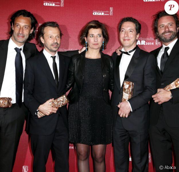 Guillaume Gallienne et des membres de son équipe du film Les Garçons et Guillaume à table - cérémonie des César 2014, le 28 février