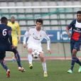 Enzo Zidane lors d'un match des jeunes du Real Madrid face au Paris Saint-Germain dans le cadre de la Youth League, le 11 mars 2014 au stade Charléty de Paris