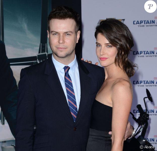 Taran Killam et Cobie Smulders lors de l'avant-première du film Captain America - Le soldat de l'hiver, à Los Angeles le 13 mars 2014