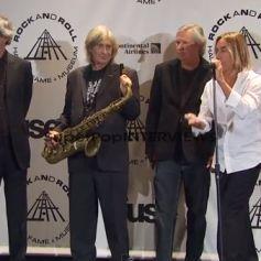 Iggy Pop et Scott Asheton avec leur groupe les Stooges en 2010 pour leur entrée au Rock and Roll Hall of Fame. Cérémonie organisée à New York, le 15 mars 2010.