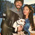 Nabilla et son amoureux Thomas Vergara : vacances à Courchevel avec leur chien Tito Benattia en mars 2014
