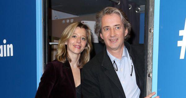 Wendy bouchard et nicolas poincar lors de l 39 inauguration du train europe 1 pour les municipales - Sonia mabrouk son mari ...