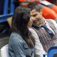 Irina Shayk a accompagné son homme Cristiano Ronaldo au match de basket en Euroligue entre le Real Madrid et le CSKA Moscou, le 20 mars 2014 au Palais des Sports de Madrid