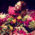 Jessica Chastain a posté une jolie photo pour remercier ceux qui lui ont envoyé des messages pour son anniversaire - 23 mars 2014