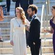 Jessica Chastain et son compagnon Gian Luca Passi à Antibes durant le Festival de Cannes le 21 mai 2013