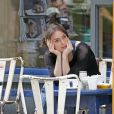 Keira Knightley sur le tournage du film Begin Again (Can a Song Save Your Life ?) à New York le 9 juillet 2012