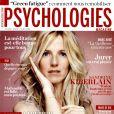 Sandrine Kiberlain en couverture du magazine Psychologies du mois d'avril 2014