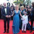William Hurt, Sandrine Bonnaire et Augustin Legrand lors du Festival de Cannes le 22 mai 2012