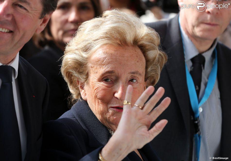 Bernadette Chirac - Inauguration de l'Institut Claude Pompidou consacré à la recherche sur la maladie d'Alzheimer à Nice le 10 mars 2014.